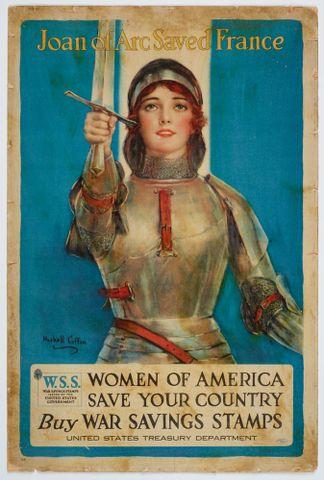 Poster, 'Joan of Arc Saved France' - Museum of New Zealand Te Papa Tongarewa