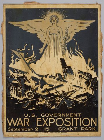 Poster, 'U.S. Government War Exposition' - Museum of New Zealand Te Papa Tongarewa