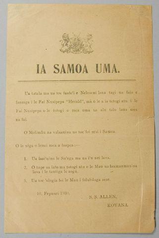 'Ia Samoa Uma' leaflet