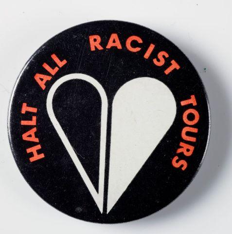Halt All Racist Tours badge
