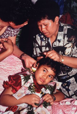 Ear piercing ceremony
