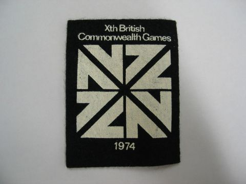 Black and white Commonwealth Games patch